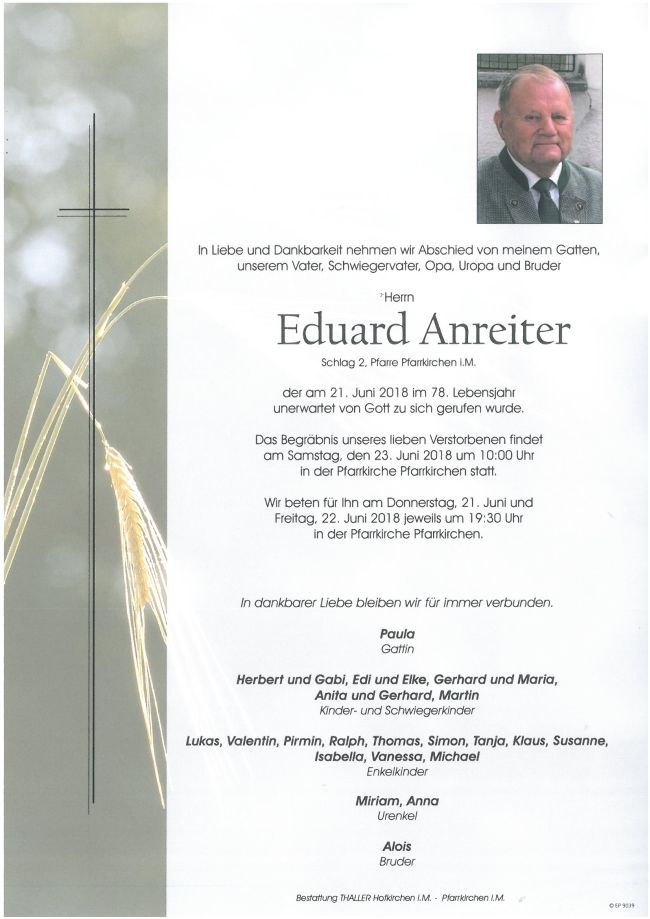 Parte Anreiter Eduard