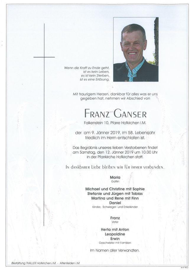 Parte Ganser Franz