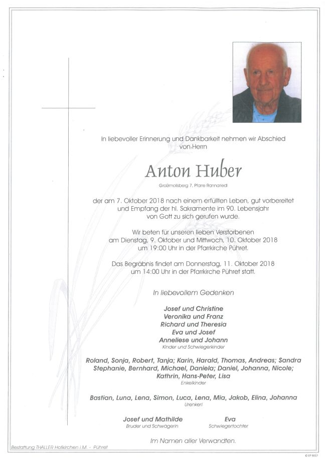 Parte Huber Anton