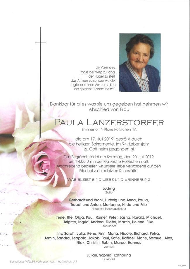 Parte Lanzerstorfer Paula