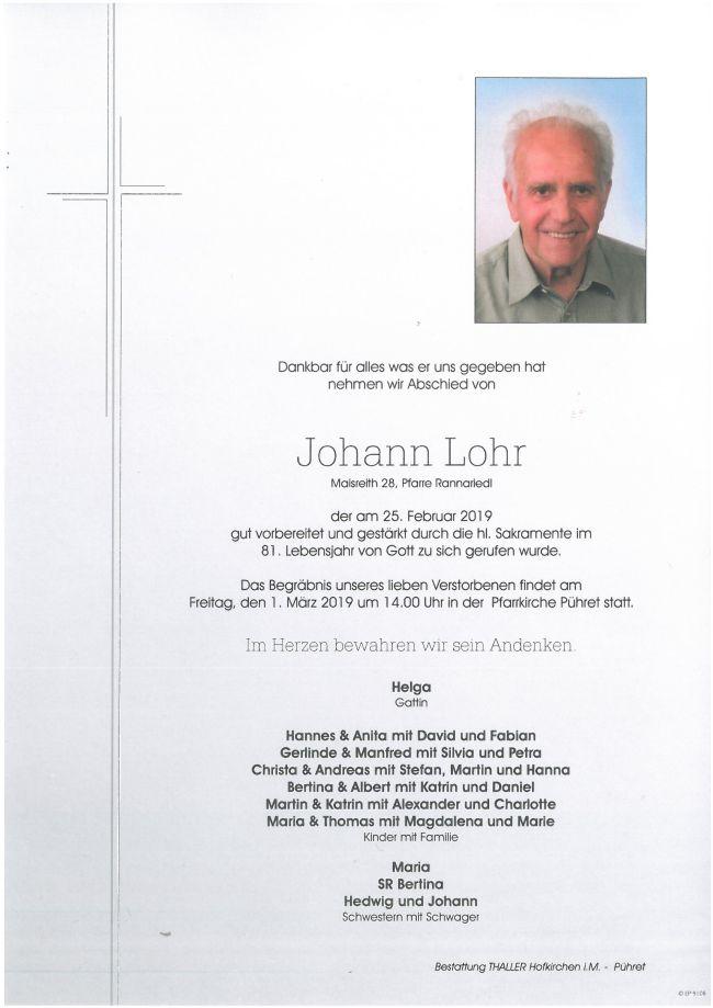 Parte Lohr Johann