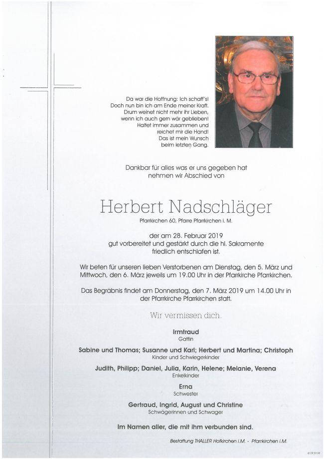 Parte Nadschläger Herbert