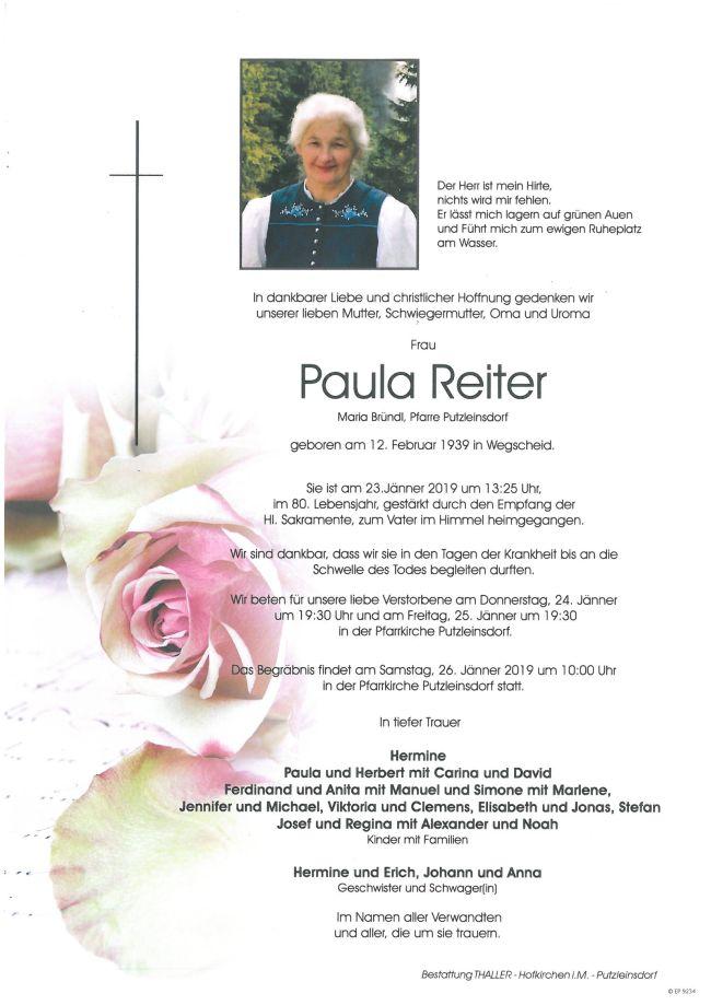 Parte Reiter Paula