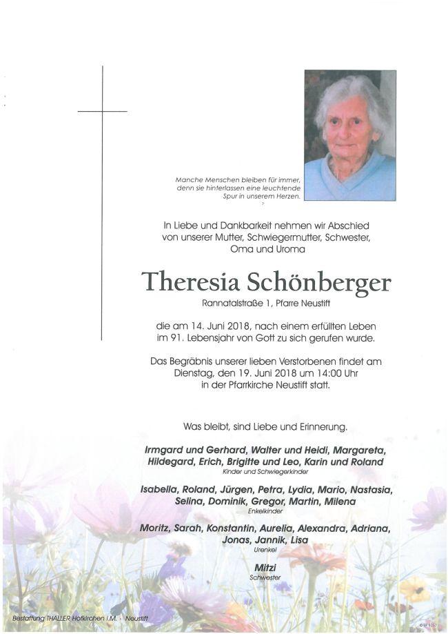 Parte Schönberger Theresia