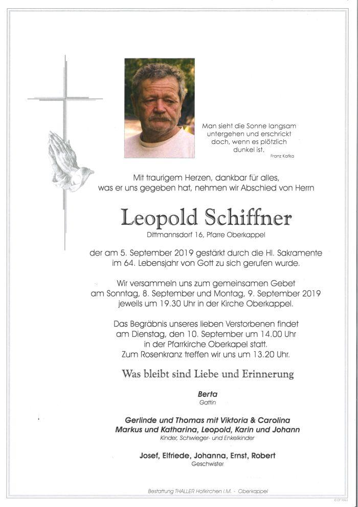 Parte Schiffner Leopold