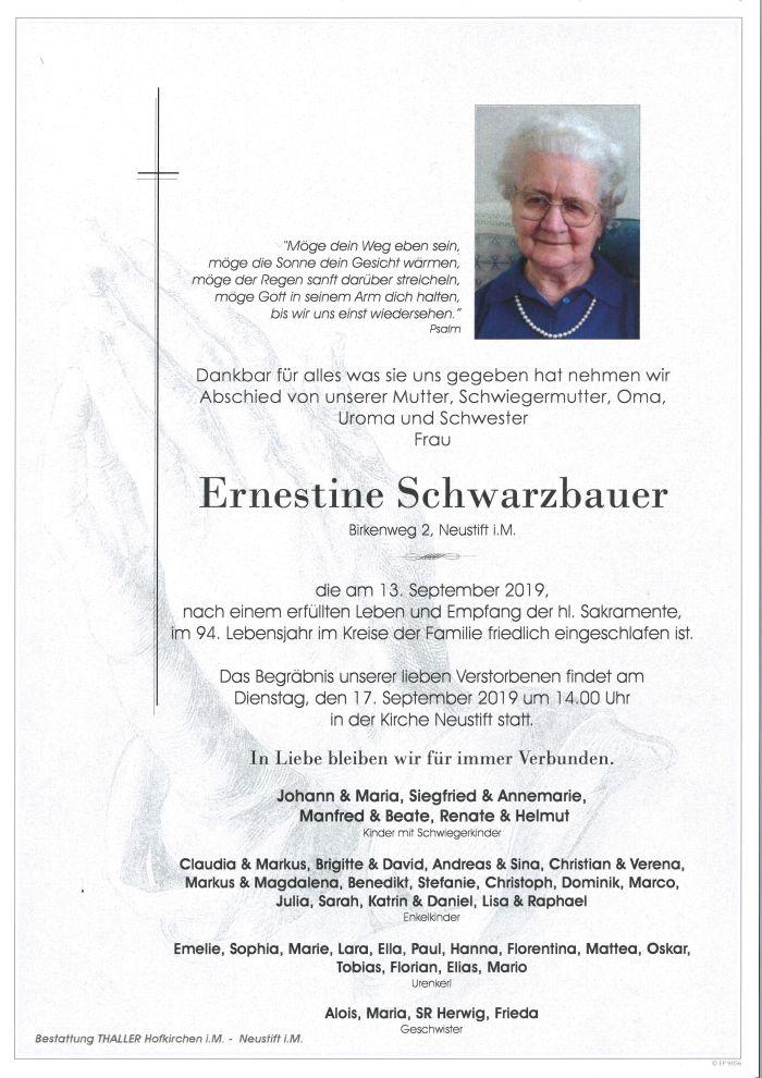 Parte Schwarzbauer Ernestine