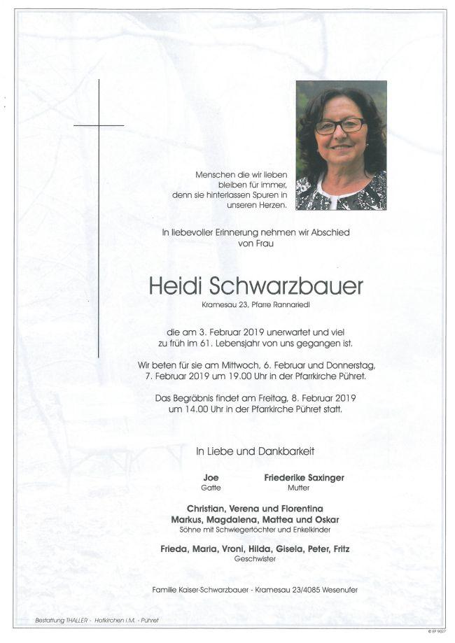 Parte Schwarzbauer Heidi