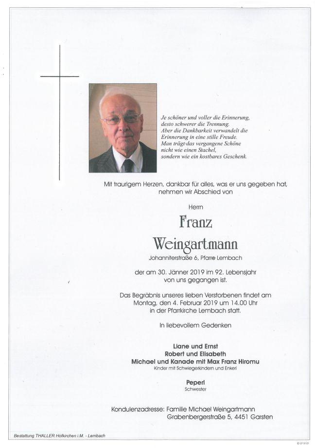Parte Weingartmann Franz