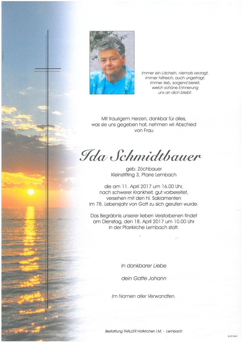 Parte Schmidtbauer Ida
