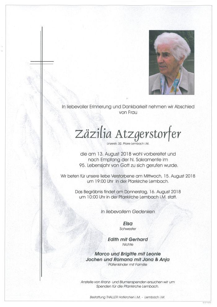 Parten Atzgerstorfer Zäzilia