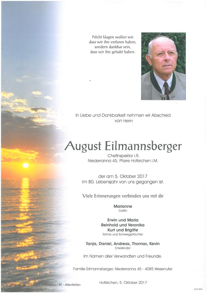 Parten Eilmannsberger August