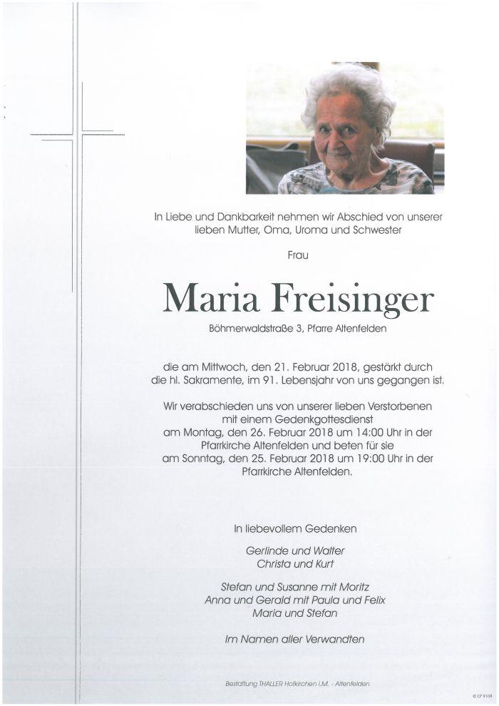Parten Freisinger Maria
