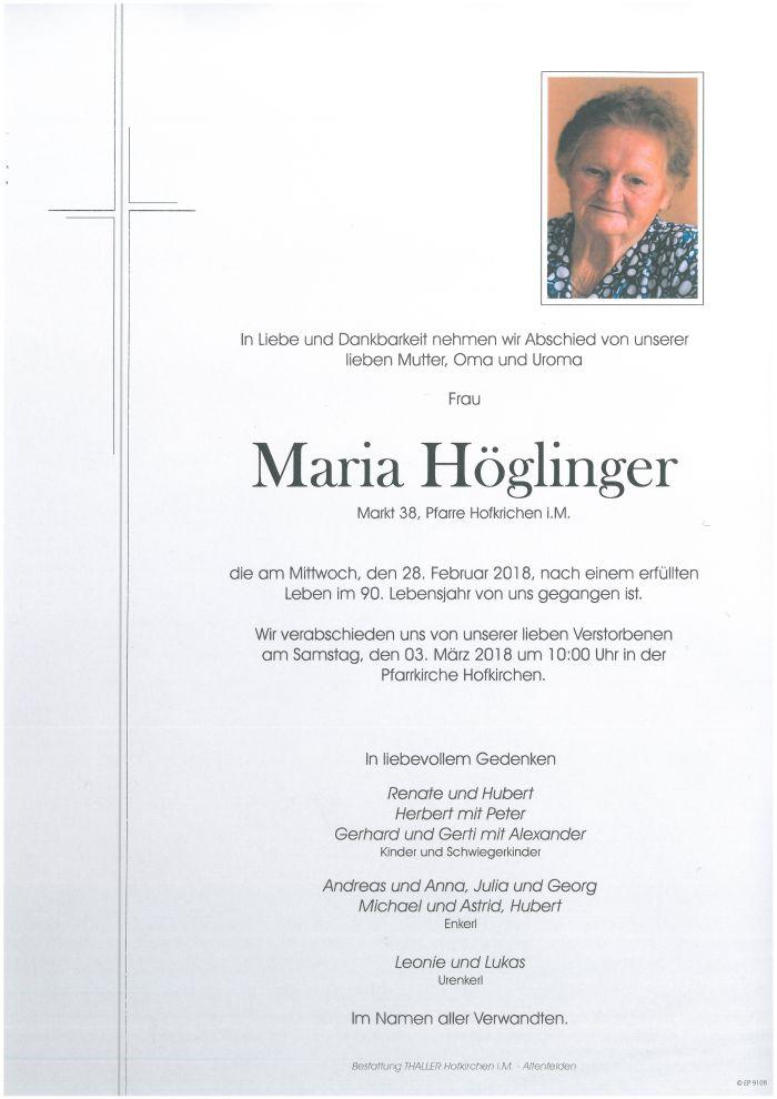 Parten Höglinger Maria