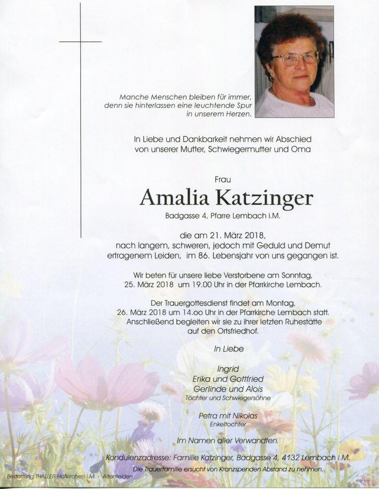 Parten Katzinger Amalia
