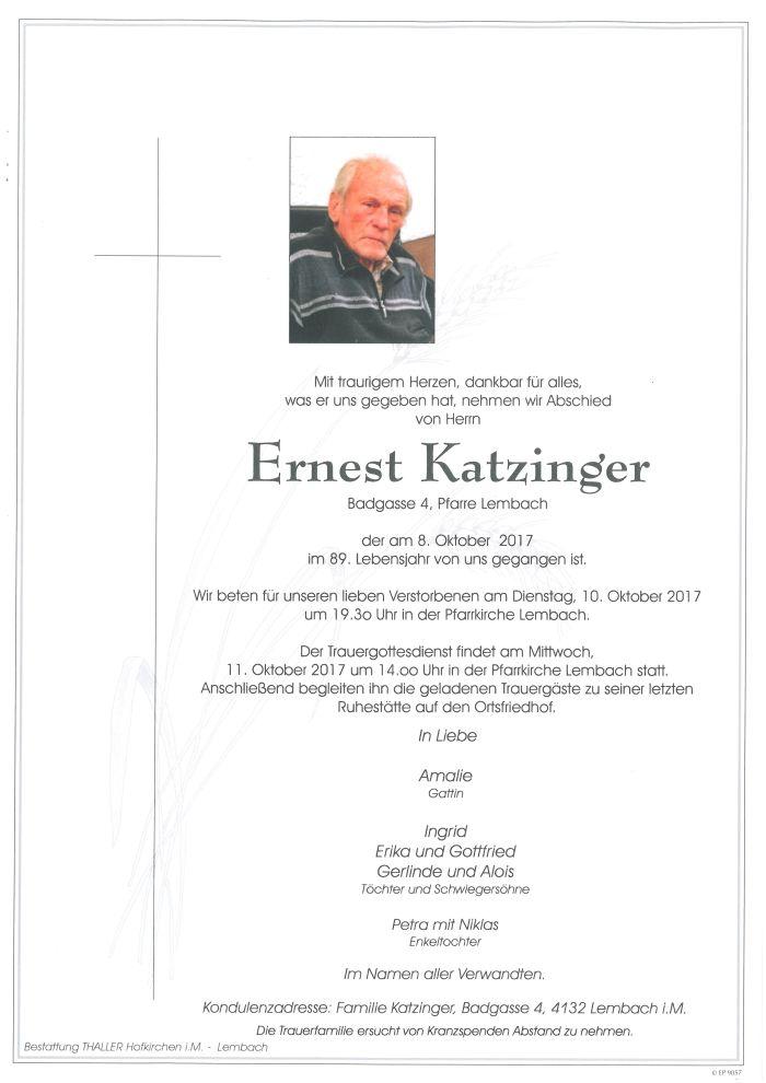 Parten Katzinger Ernest
