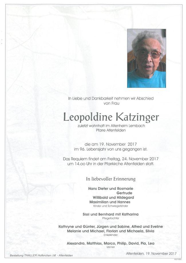 Parten Katzinger Leopoldine