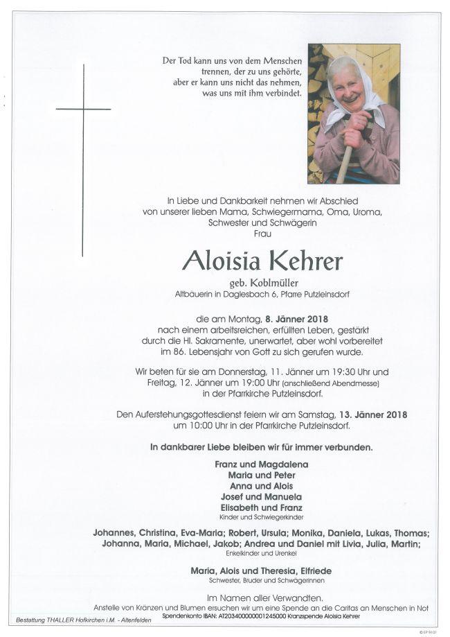 Parten Kehrer Aloisia