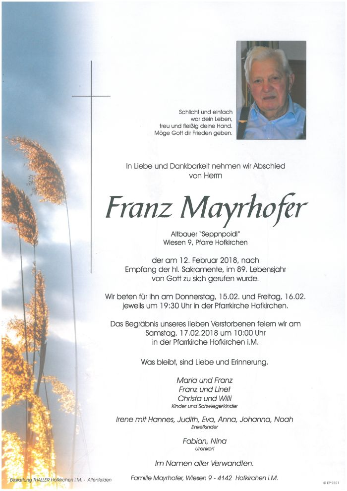 Parten Mayrhofer Franz