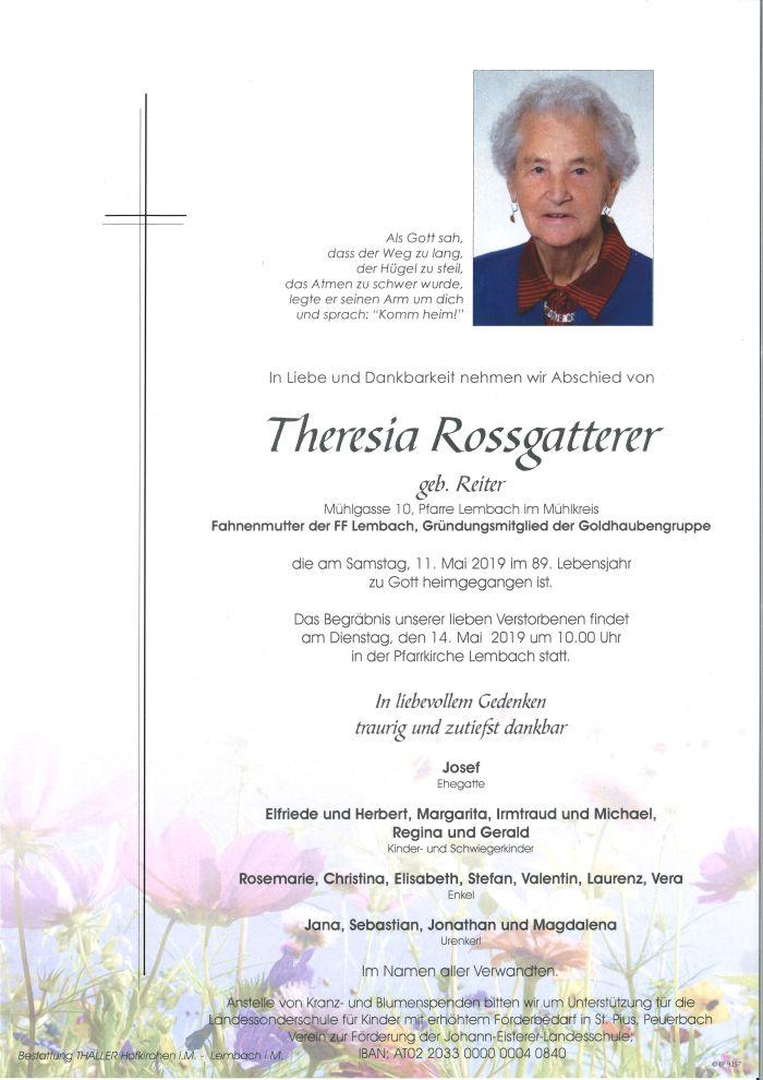Parten Rossgatterer Theresia