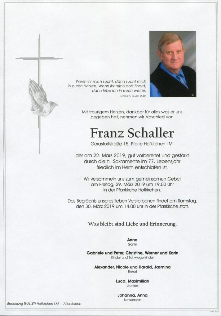 Parten Schaller Franz