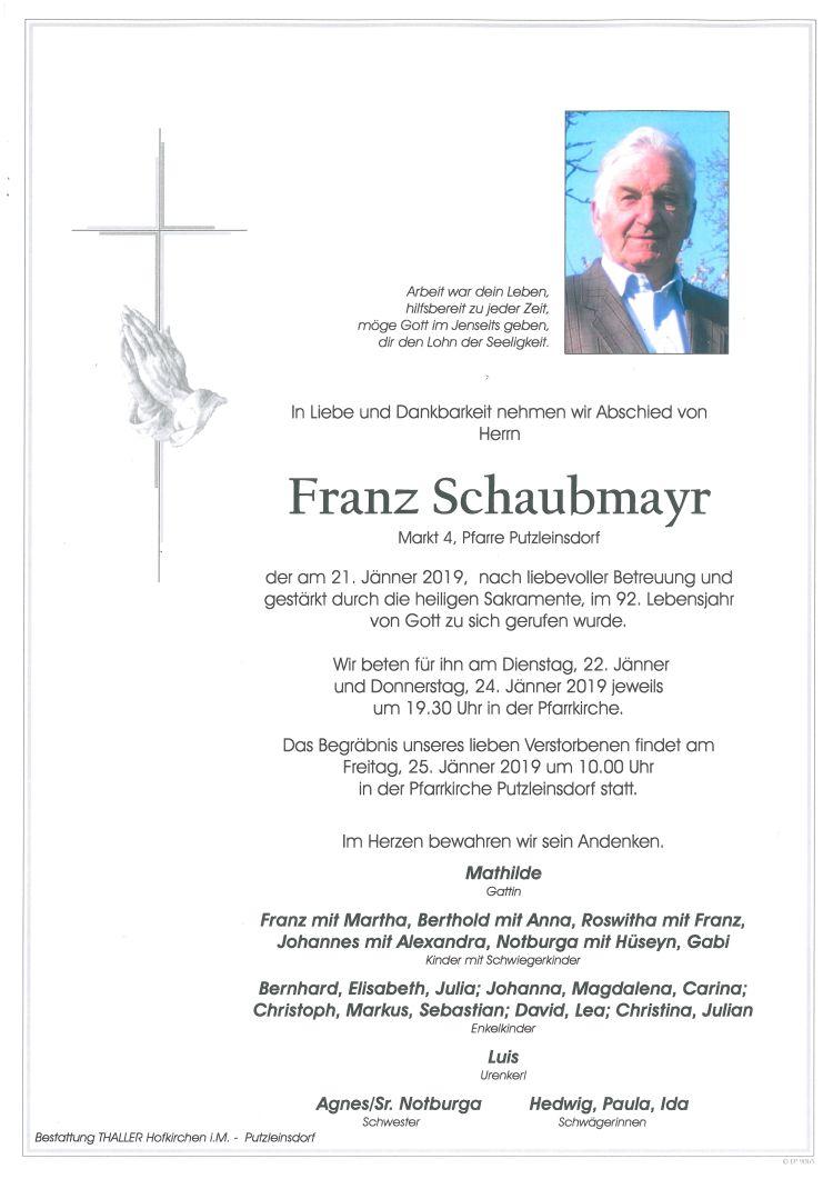 Parten Schaubmayr Franz