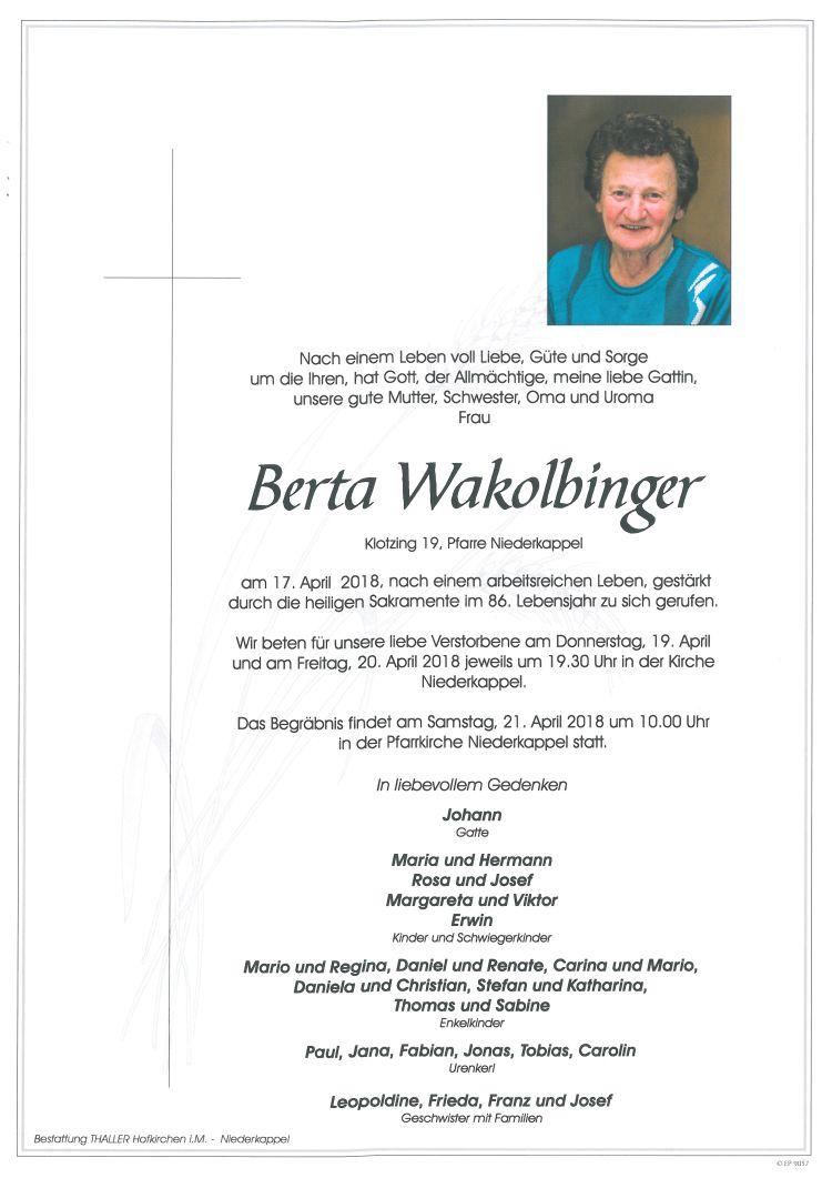 Parten Wakolbinger Berta