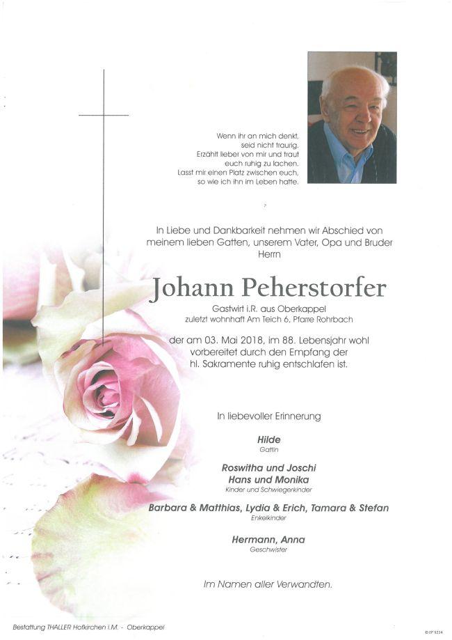 Parten Peherstorfer Johann