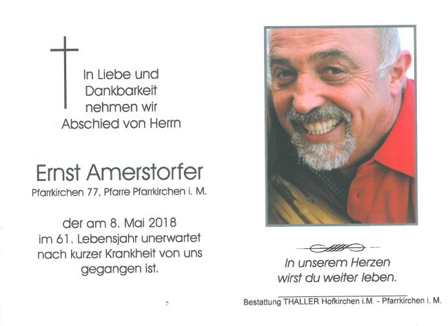 Sterbebild Amerstorfer Ernst