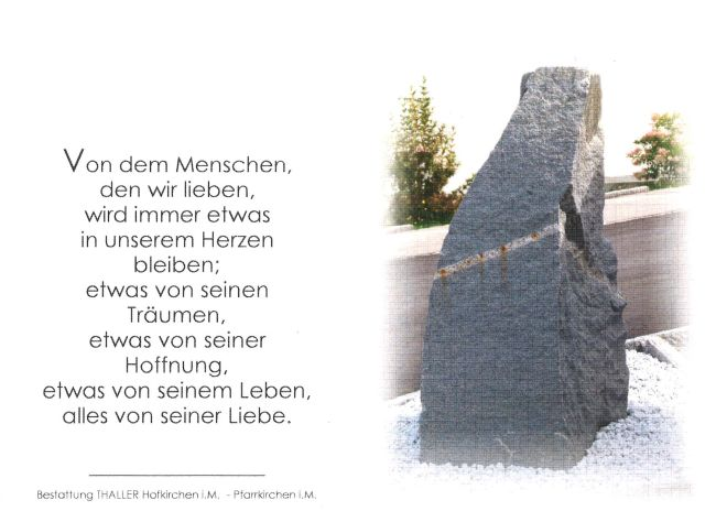 Sterbebild Bumberger Franz