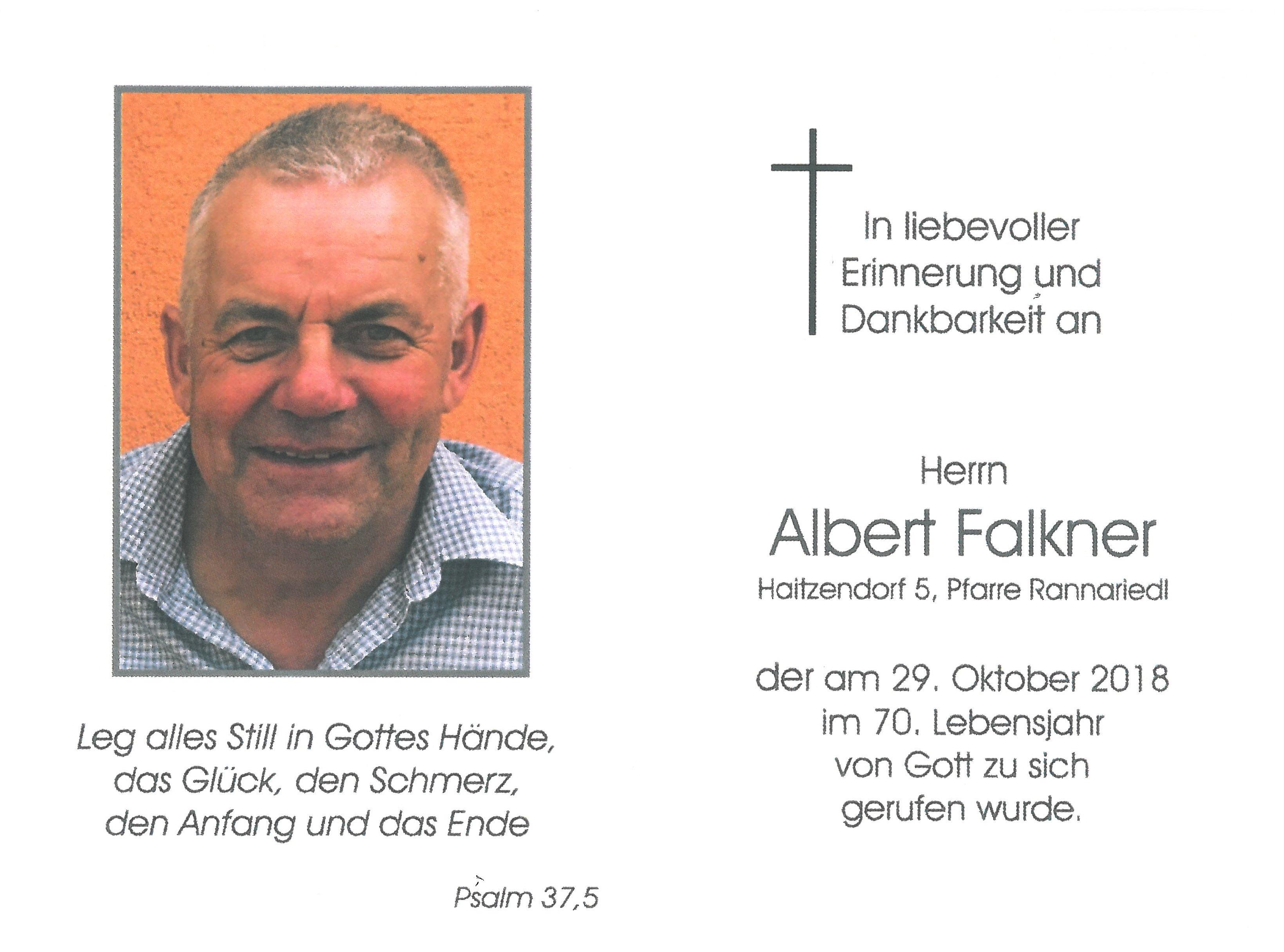 Sterbebild Falkner Albert