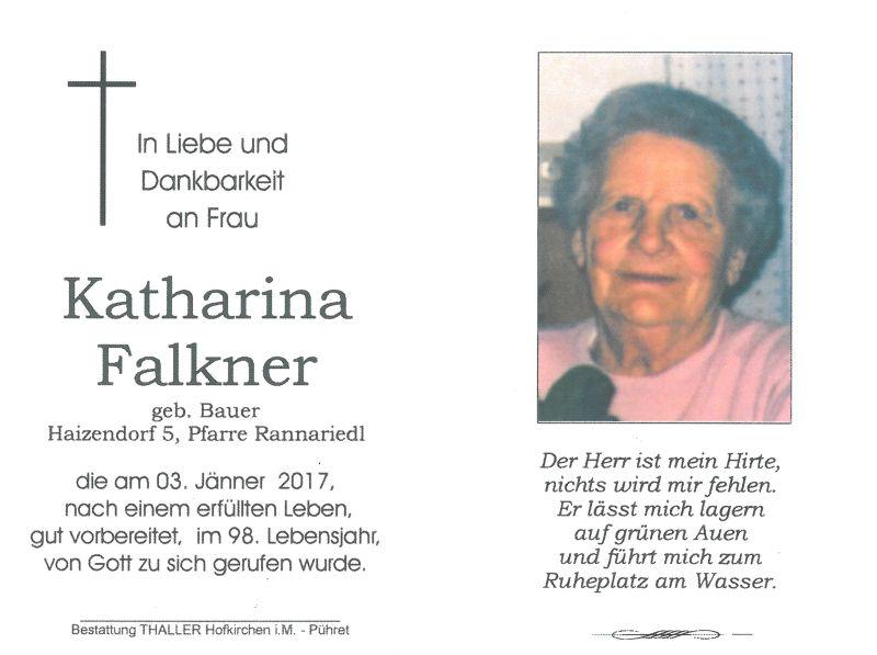Sterbebild Falkner Katharina