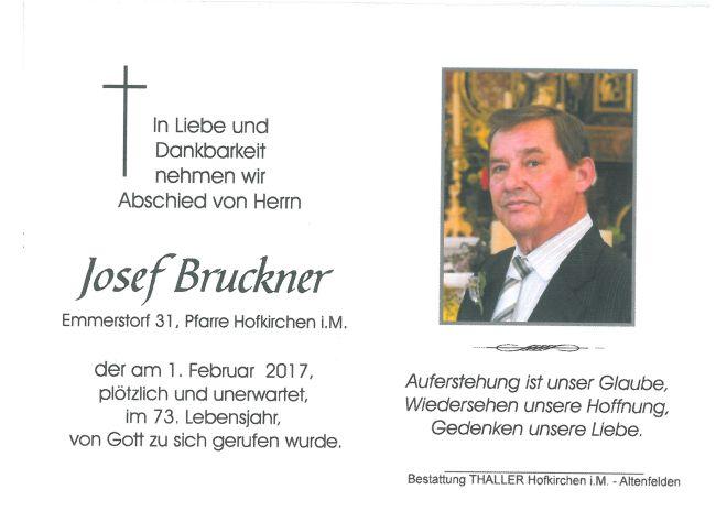 Sterbebild Josef Bruckner