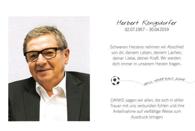 Sterbebild Königsdorfer Herbert Innenseite