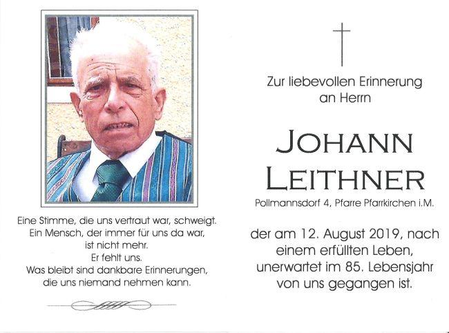 Sterbebild Leithner Johann