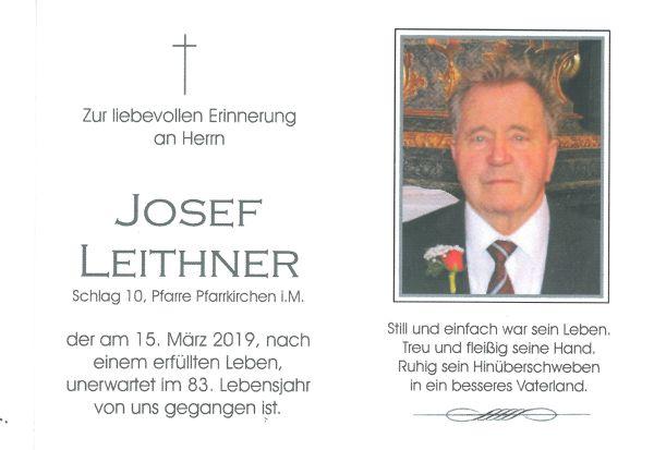 Sterbebild Leithner Josef