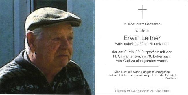 Sterbebild Leitner Erwin