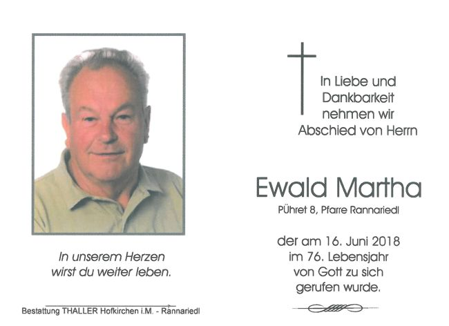 Sterbebild Martha Ewald