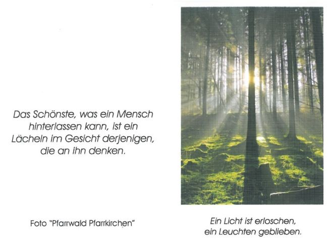 Sterbebild Märzinger Johanna Rückseite