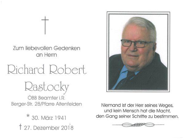 Sterbebild Rastocky Richard Robert