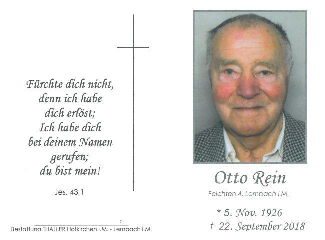 Sterbebild Rein Otto