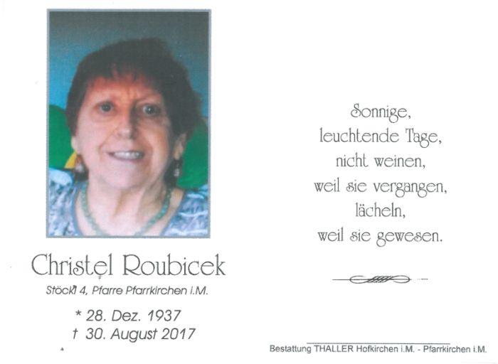 Sterbebild Roubicek