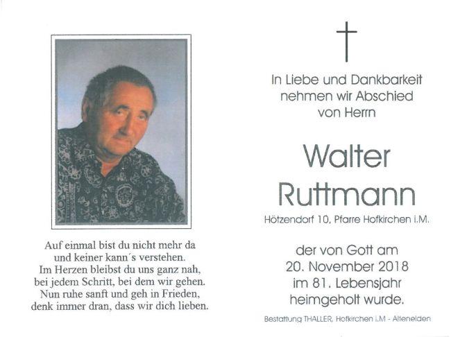 Sterbebild Ruttmann Walter