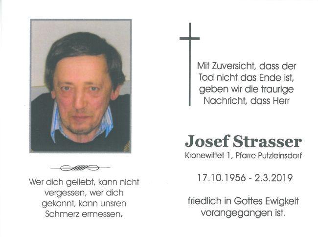 Sterbebild Strasser Josef