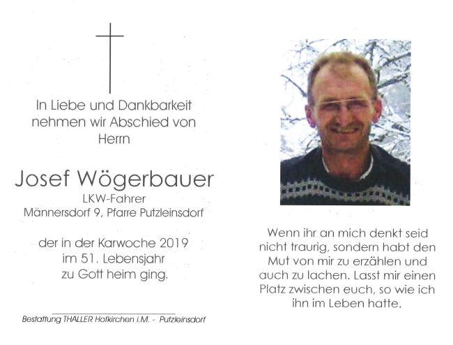Sterbebild Wögerbauer Josef