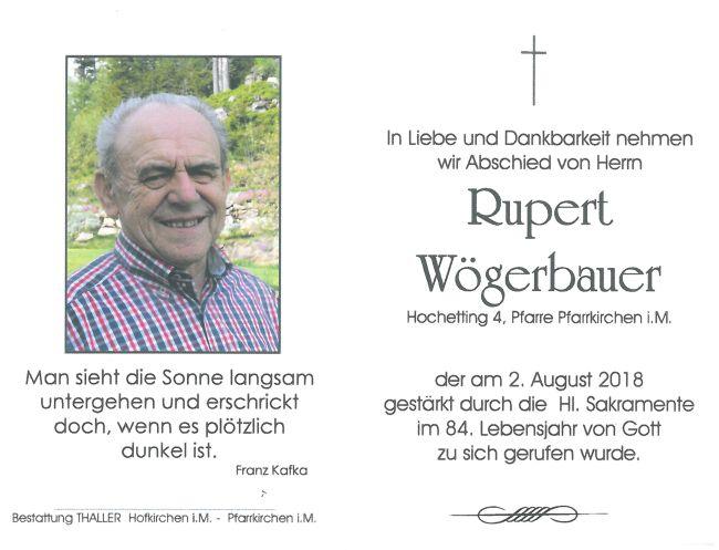 Sterbebild Wögerbauer Rupert