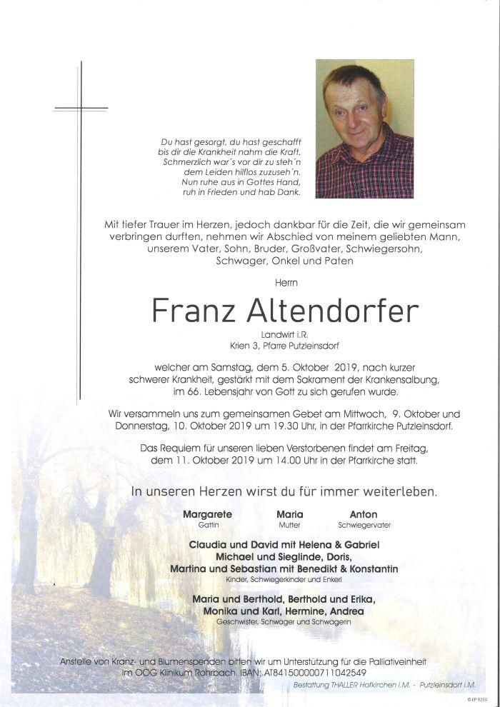 Parte Altendorfer Franz