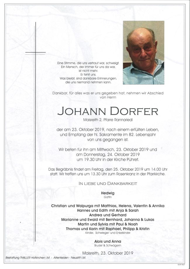 Parte Johann Dorfer