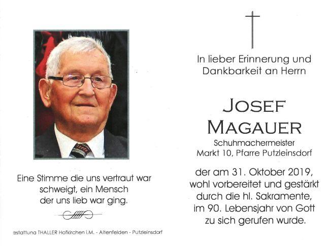 Sterbebild Josef Magauer