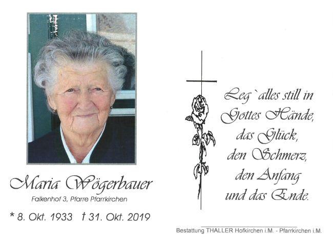 Sterbebild Maria Wögerbauer