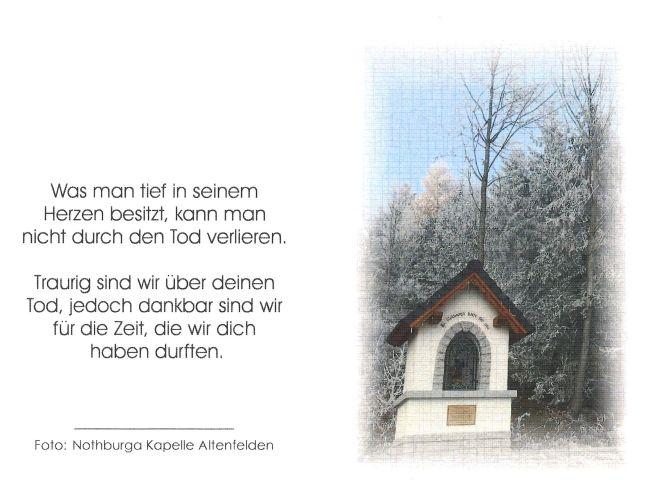 Sterbebild aussen Ludwig Wolfmayr